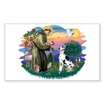 St Francis #2 / Great Dane (H) Sticker (Rectangle)