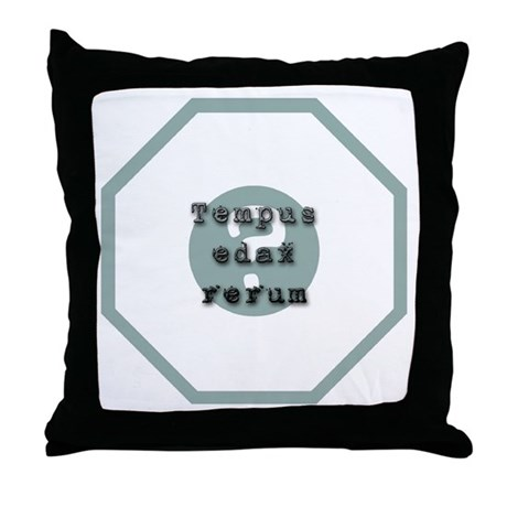 Tempus Edax Rerum Throw Pillow