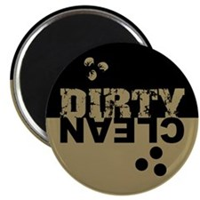 "Dirty/Clean Dishwasher black/gold 2.25"" Magnet (10"