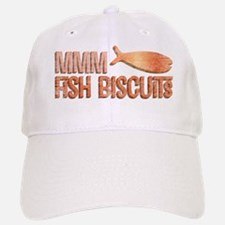 Mmm Fish Biscuits Baseball Baseball Cap