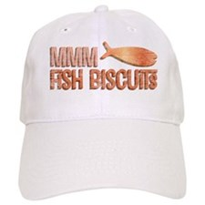 Mmm Fish Biscuits Baseball Cap