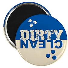 Dirty/Clean Dishwasher blue/cream Magnet