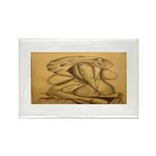 Abstract Nude Reclining Rectangle Magnet