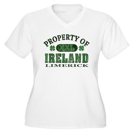 Property of Limerick Women's Plus Size V-Neck T-Sh
