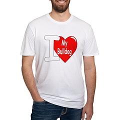 I Love My Bulldog (Front) Shirt