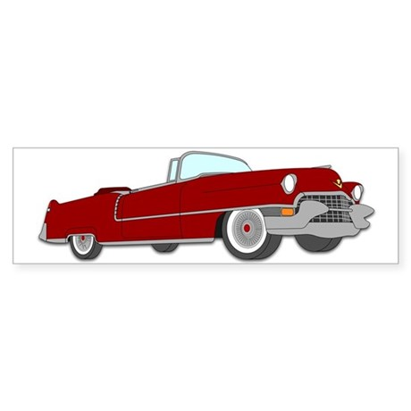 Classic Cadillac Sticker (Bumper)