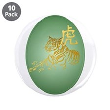 "Year Of The Tiger Framed 3.5"" Button (10 pack)"