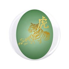 "Year Of The Tiger Framed 3.5"" Button"