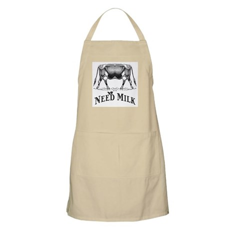 Need Milk BBQ Apron
