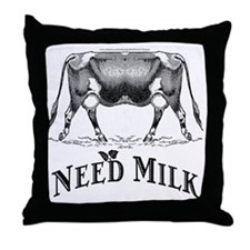 Need Milk Throw Pillow