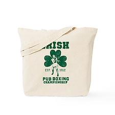 Irish Pub Boxing Tote Bag