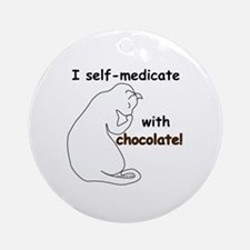 Medical Chocolate B Ornament (Round)