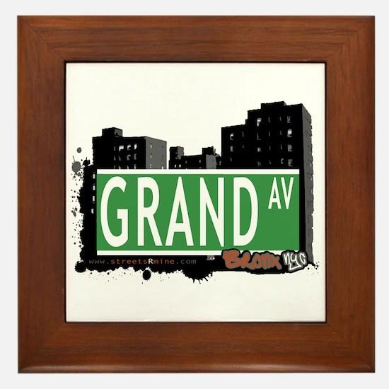 Grand Av, Bronx, NYC Framed Tile