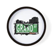 Grand Av, Bronx, NYC Wall Clock