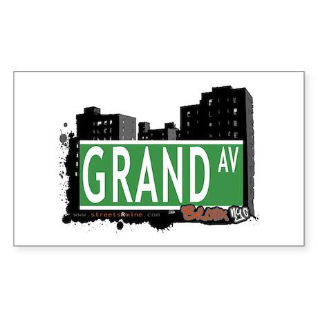 Grand Av, Bronx, NYC Sticker (Rectangle)