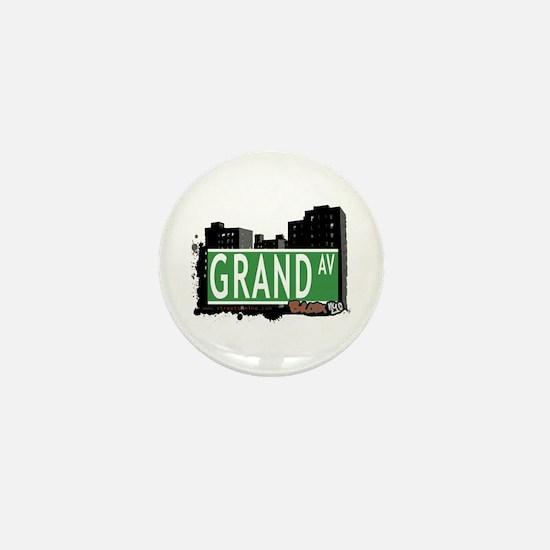 Grand Av, Bronx, NYC Mini Button