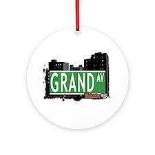 Grand Av, Bronx, NYC Ornament (Round)