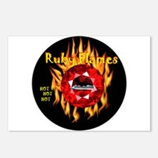 Ruby Flames - Postcards (Package of 8)