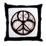 Jewish Peace Window Throw Pillow