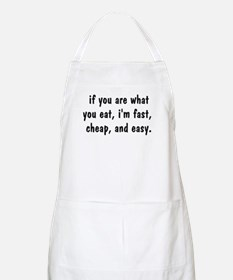 """If you are what you eat"" BBQ Apron"
