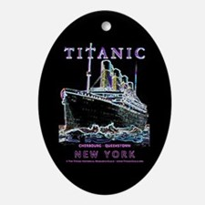 Titanic Neon (black) Ornament (Oval)