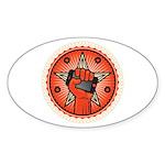 Rise Up Revolution Sticker (Oval 50 pk)