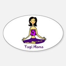 Yogi Mama Sticker (Oval)