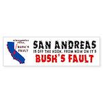 Bush's Fault Sticker (Bumper)