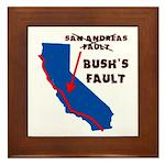 Bush's Fault Framed Tile