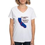Bush's Fault Women's V-Neck T-Shirt
