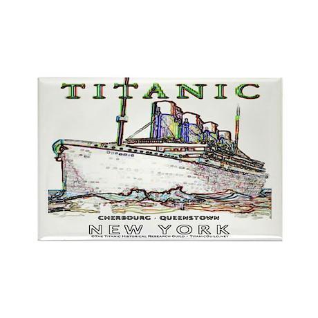 Titanic Neon (white) Rectangle Magnet (100 pack)