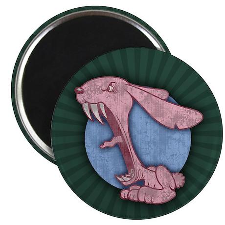 """Pink Evil Bunny 2.25"""" Magnet (100 pack)"""