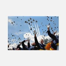 Thunderbirds Over Academy Rectangle Magnet