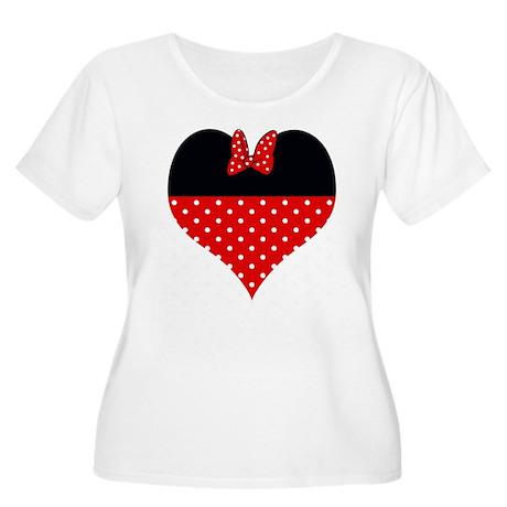 I Heart Minnie Women's Plus Size Scoop Neck T-Shir