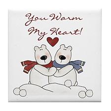 Warm My Heart Tile Coaster