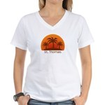 St. Thomas Women's V-Neck T-Shirt