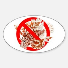 No Red Lionfish Decal