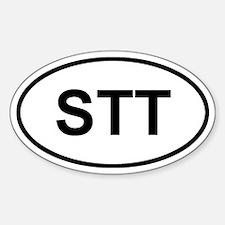 St. Thomas, USVI STT Sticker (Oval)