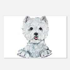 Lovable Westie Postcards (Package of 8)