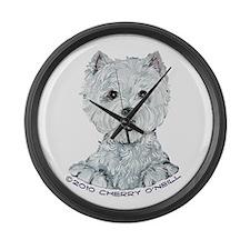 Lovable Westie Large Wall Clock