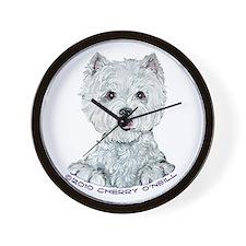 Lovable Westie Wall Clock