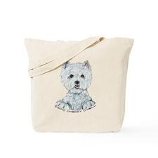 Lovable Westie Tote Bag