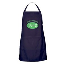 1940 Born To Golf Apron (dark)