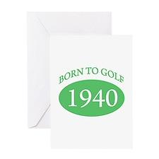 1940 Born To Golf Greeting Card