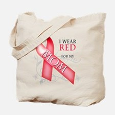 I Wear Red for my Mom Tote Bag