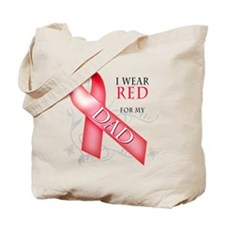 I Wear Red for my Dad Tote Bag