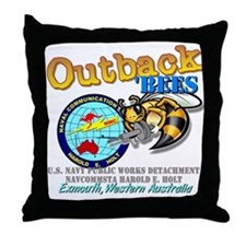 HEH Navy Public Works Throw Pillow