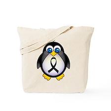 Penguin Black Ribbon Awareness Tote Bag