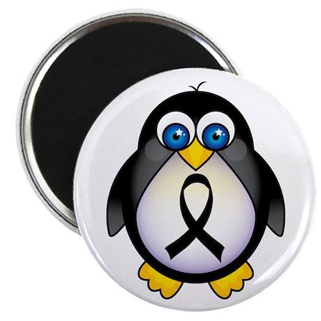 Penguin Black Ribbon Awareness Magnet
