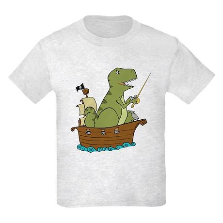 nerdwaffles dinosaur pirate kids shirt